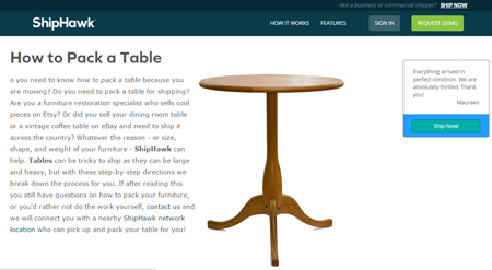 How to pack a table