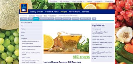 Lemon Honey Coconut Oil Dressing