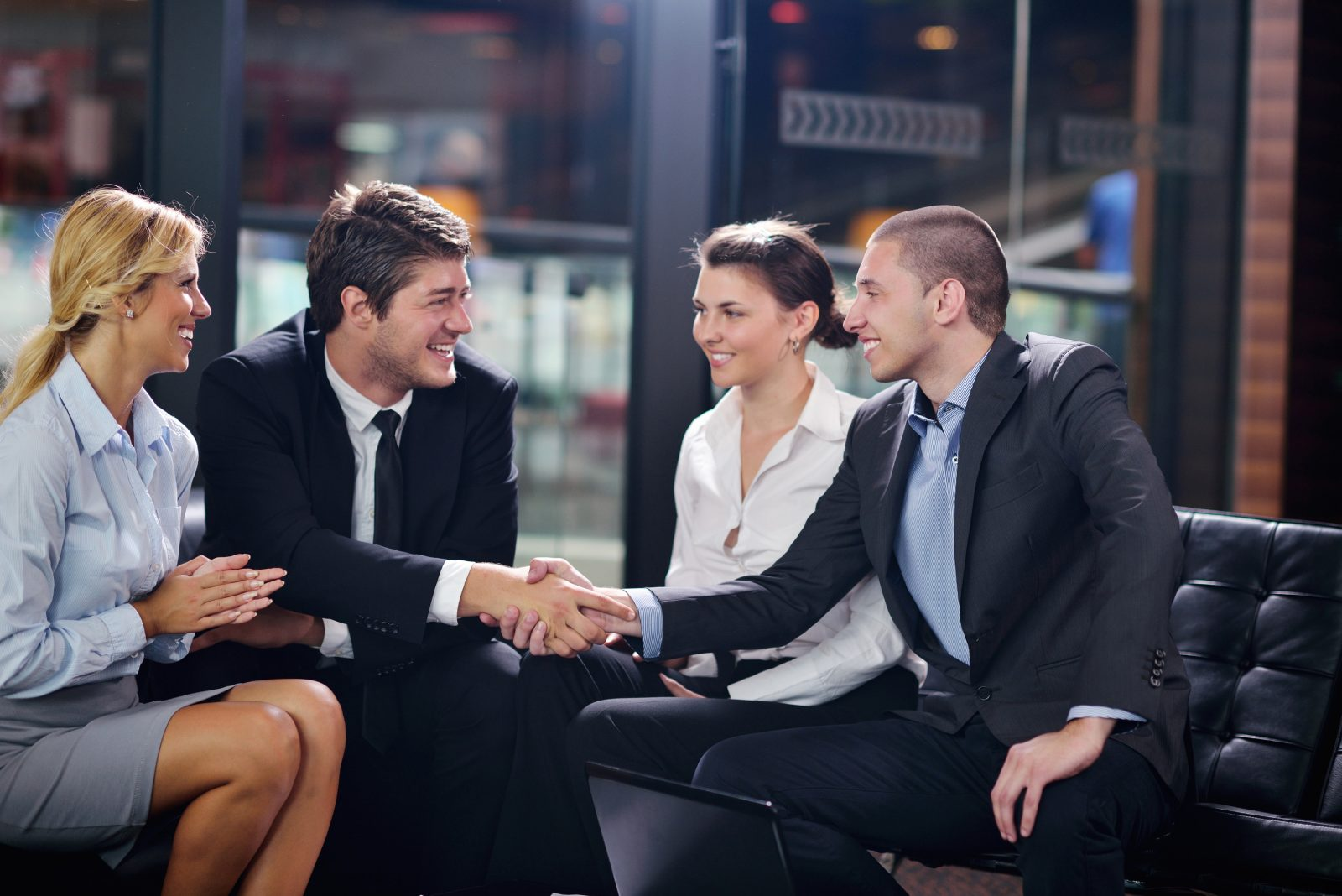Stock Photo - business people making deal
